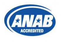 ANAB accredited seal